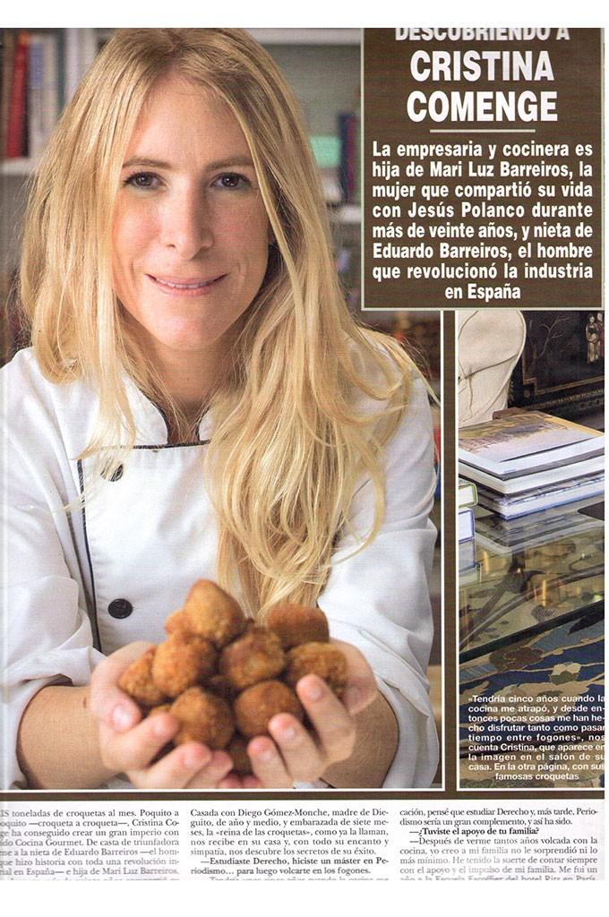 Descubriendo a Cristina Comenge (Revista Hola)