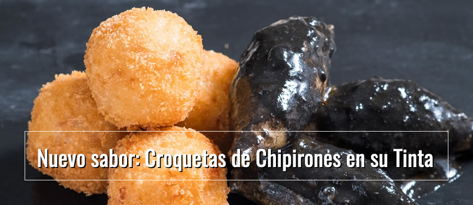 Nuevo sabor: Croqueta de Chipirones en su tinta